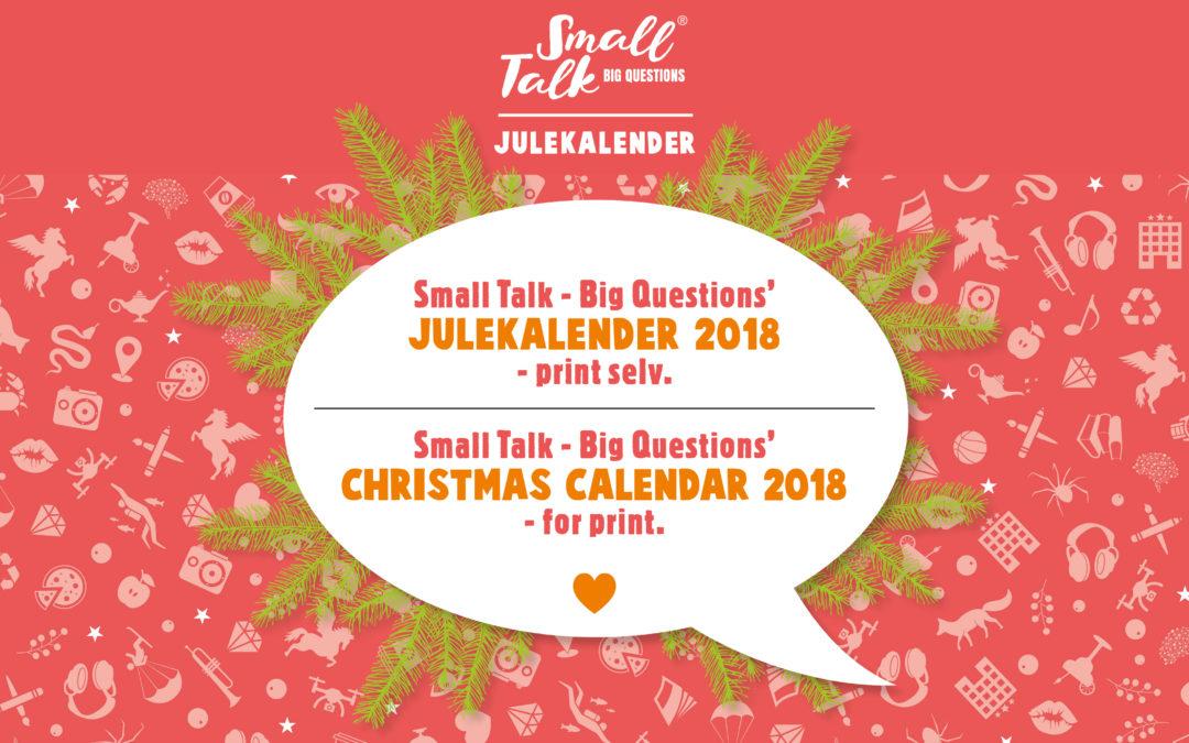 Small Talk Print Selv Julekalender 2018