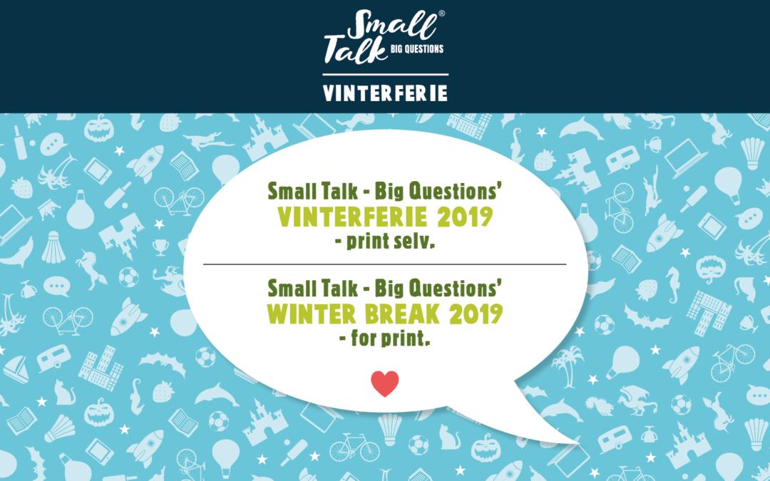 Small Talk Print Selv Vinterferiespørgsmål 2019